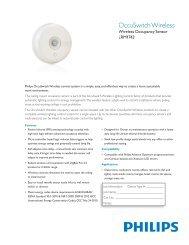OccuSwitch Wireless - Philips Lighting Controls