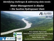 Water Management in Alaska – the Susitna Hydropower Dam - SMAP
