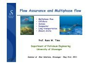 Flow Assurance and Multiphase flow - part 1 By Prof ... - Aker Solutions