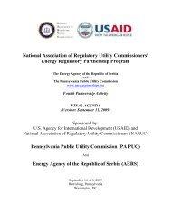 National Association of Regulatory Utility Commissioners' Energy ...
