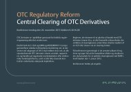 OTC Regulatory Reform Central Clearing of OTC Derivatives - Plesner