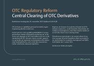 OTC Regulatory Reform Central Clearing of OTC Derivatives - Plesner