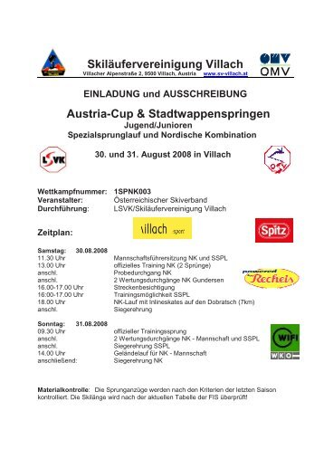 Skiläufervereinigung Villach Austria-Cup ... - Stefan Kraft