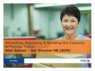 Attracting, Retaining and Building the Capacity of Female Talent