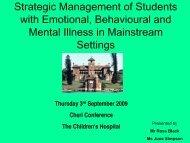 conceptual framework of behaviour management - CHERI - The ...