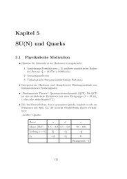 Kapitel 5 SU(N) und Quarks 5.1 Physikalische Motivation