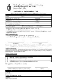 Application for Darkroom User Card - Student Affairs Office