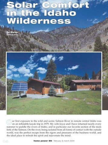 Solar Comfort in the Idaho Wilderness: Off-Grid PV - Equal Parenting ...
