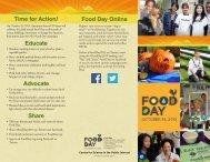 Food Day brochure 2013