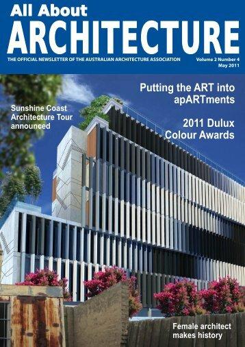 AAA NEWSLETTER MAY.indd - Australian Architecture Association
