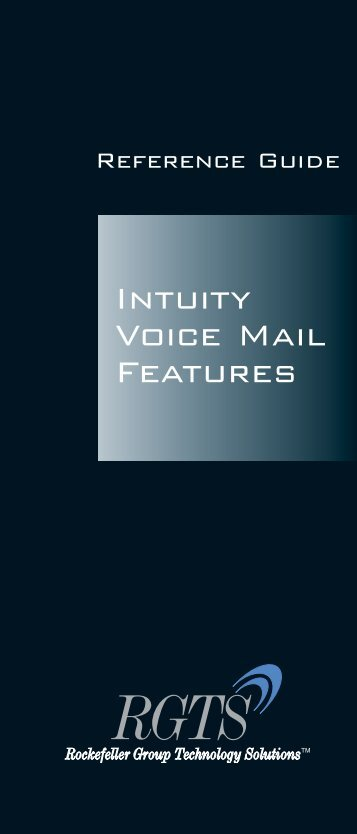 Intuity Voice Mail Features - RGTS