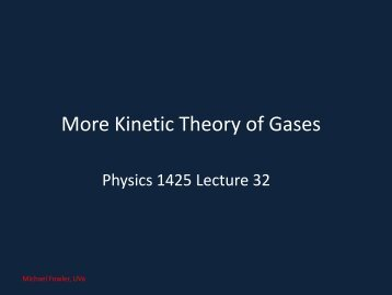 32. More Kinetic Theory - Galileo and Einstein