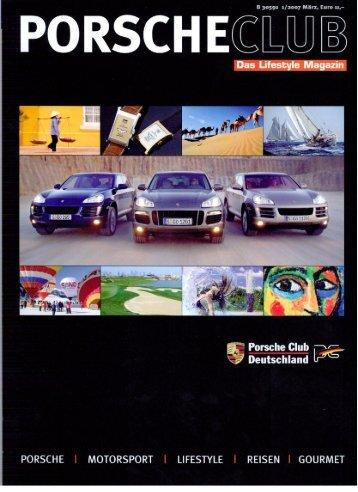 Porsche Club Magazin, March 2007 - Hotel Savoy