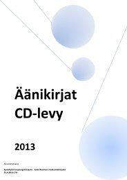 CD-levyllä olevat aikuisten äänikirjat