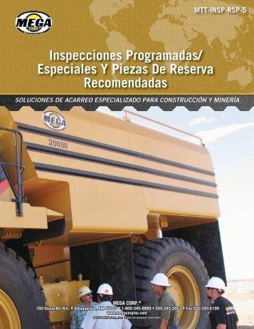 Inspecciones Programadas/ Especiales Y Piezas De Reserva ...