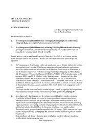 Beroep aanwijzingsbesluit MAA - Milieufederatie Limburg