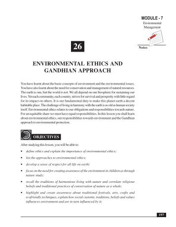 environmental ethics notes