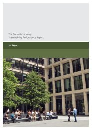The Concrete Industry Sustainability Performance Report
