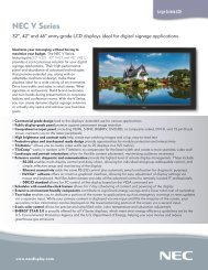 Download the V-Series Brochure - NEC Corporation (Thailand)