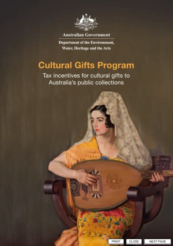 Cultural Gifts Program Donor Booklet (PDF - 1.3 ... - Office for the Arts