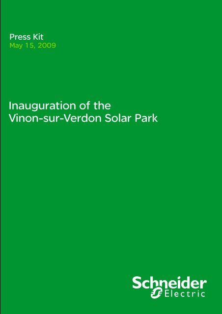Inauguration of the Vinon-sur-Verdon Solar Park - Schneider Electric