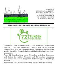 Pfarrblatt Nr. 24/25 vom 08.06. – 23.06.2013 (€ 0,30)