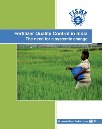 Fertilizer Quality Control in India - Federation of Indian Micro And ...