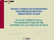Plan de fomento de la transmisión familiar del euskera en familias ...
