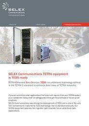 SELEX Communications TETRA equipment is TEDS ready