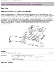 HP NC320T PCI Express Gigabit Server Adapter - On-Site Computer ...