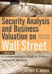 Security Analysis and Business Valuation on Wall Street,: A ... - lib