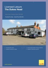Licensed Leisure The Dukes Head - Savills
