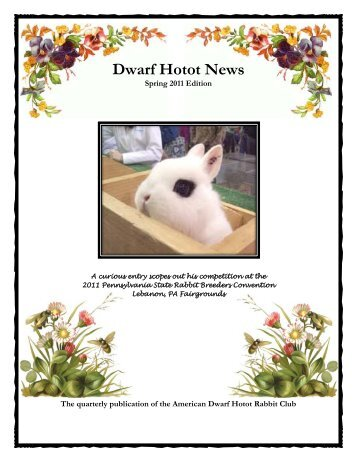 2011 Spring Issue - the American Dwarf Hotot Rabbit Club