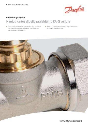 RA-G didelio pralaidumo termostatiniai ventiliai - Danfoss