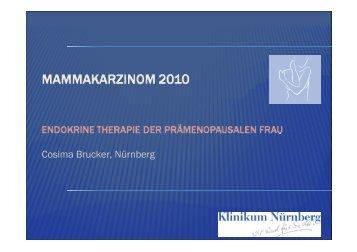 Endokrine Therapie der prämenopausalen Frau (Prof ... - Frauenklinik