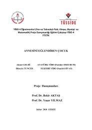 ANNESİNİ EĞLENDİREN ÇOCUK Proje Danışmanları Prof. Dr ...