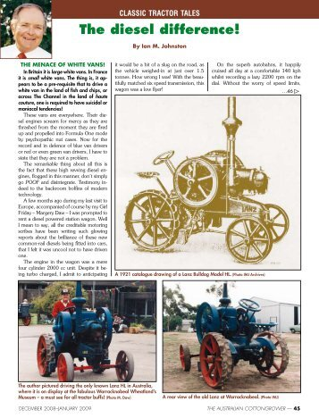 Classic Tractor Tales: The diesel difference - Greenmount Press