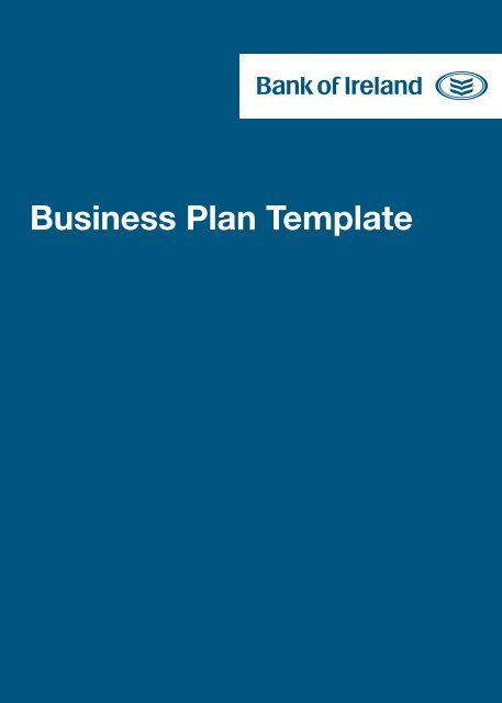 business plan template for sole trader