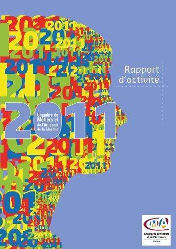 decouvrir le rapport d'activites de la cma 57 - Chambre de métiers ...