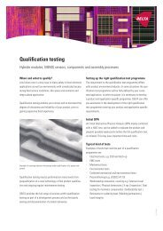 Qualification testing - Delta