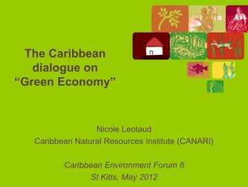 Green Economy - Caribbean Environmental Health Institute