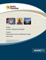 austin's competitive position phase ii - The Greater Austin Chamber ...