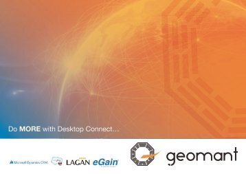 Geomant launches new agent productivity solutionDesktop Connect ...