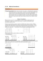 2.3.16 Maticový formalismus - Realisticky cz