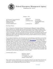 City of Fontana Preliminary Letter - FEMA Region 9