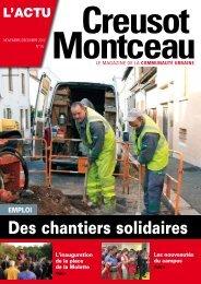 Des chantiers solidaires - Creusot-Montceau TV