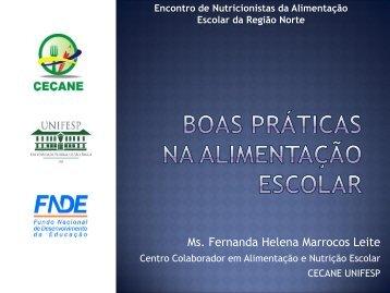 Regional 2013 (Norte) - Boas práticas (Fernanda Leite)