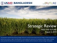 Bangladesh Feed The Future Strategic Review