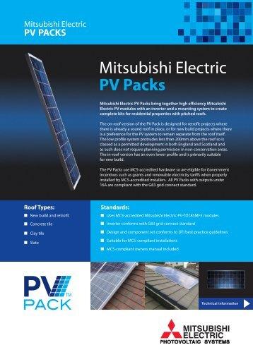 Mitsubishi Electric PV Packs - RM Barnett renewable energy company
