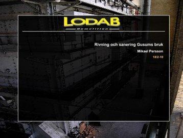 Lodabs presentation 18 feb 2010, 2.21 MB